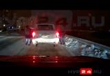 Гости из Башкортостана в Новом Уренгое устроили танцы на дороге и нагребли снега себе в авто (ВИДЕО)