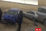 Мусоровоз в Новом Уренгое протаранил три машины (ВИДЕО)