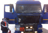 Ямальский спасатель, который ехал по своим делам в Новый Уренгой, помог потушить горящий бензовоз (ФОТО)