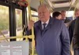 Глава города проехал по новому автобусному маршруту (ФОТО)