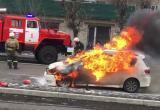 В Тарко-Сале сгорела машина