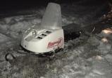 В Пуровском районе снегоход застрял в наледи (ФОТО)