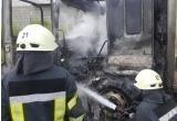В Пуровском районе сгорел дальнобойщик